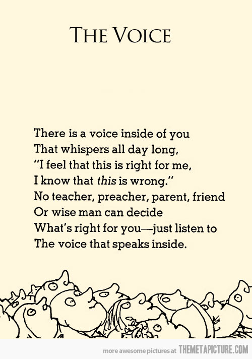 ShelSilverstein The Voice Thaw Blog