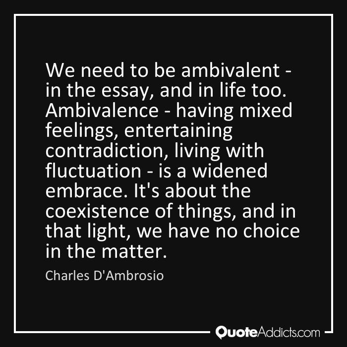 ambivalence THAW blog